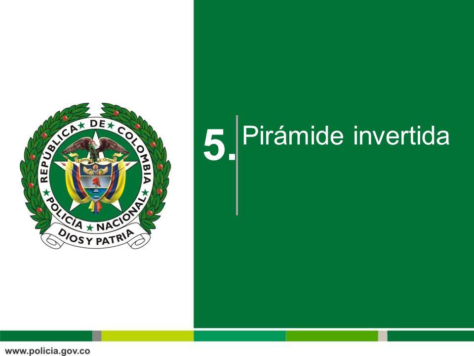 Pirámide invertida 5.