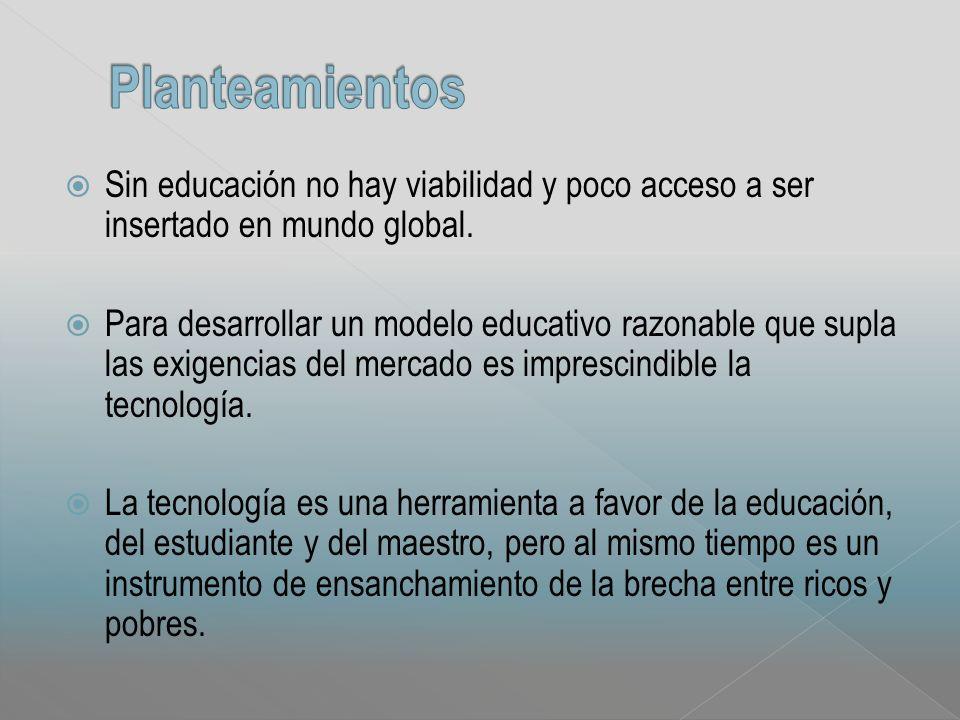 Sin educación no hay viabilidad y poco acceso a ser insertado en mundo global.