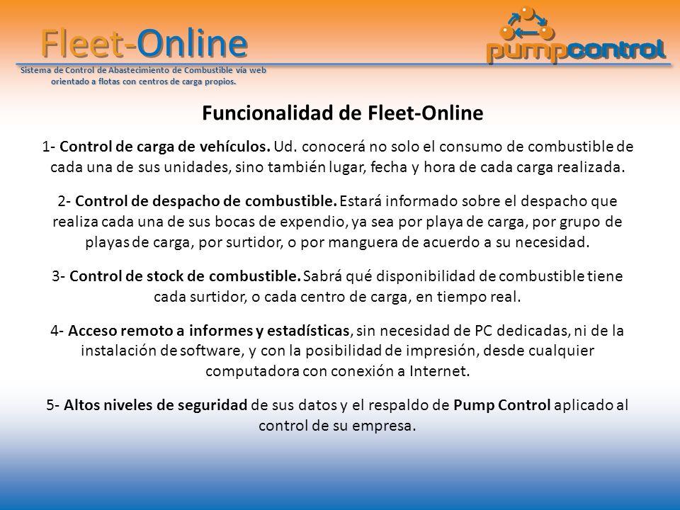 Fleet-Online Sistema de Control de Abastecimiento de Combustible vía web orientado a flotas con centros de carga propios. Funcionalidad de Fleet-Onlin