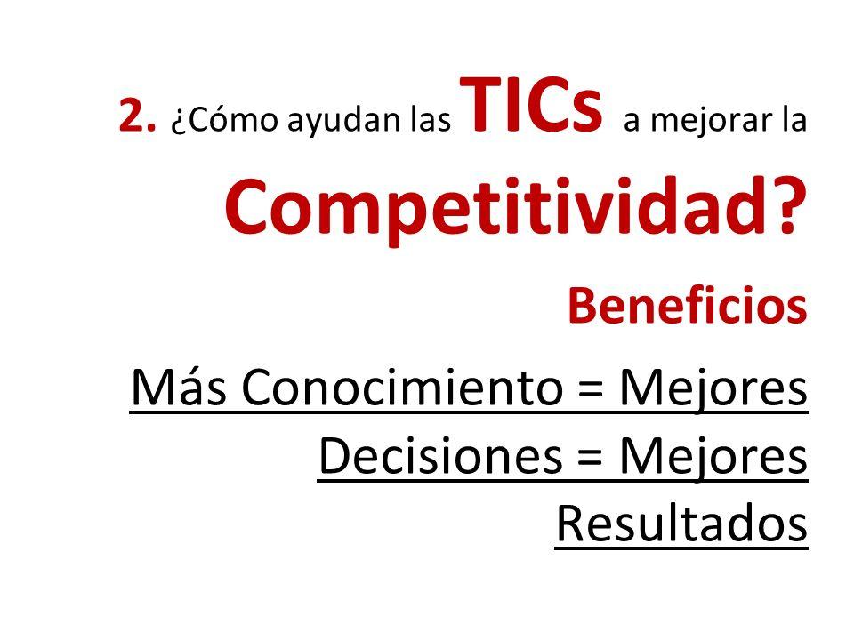 1.¿Qué CONOCIMIENTO necesitan los agricultores para ser más competitivos? ¿Quien lo tiene? ¿Quien lo necesita? ¿Cómo lo transferimos?