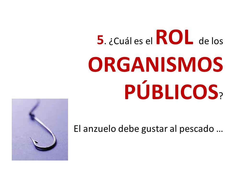 4. ¿Cuál es el ROL del Sector PRIVADO ?