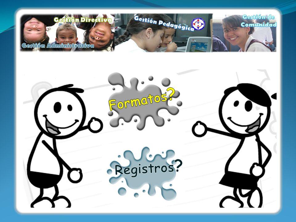 Haz clic encima de la información que quieres conocer: Identificación de formatos ¿Cómo acceder a los formatos.