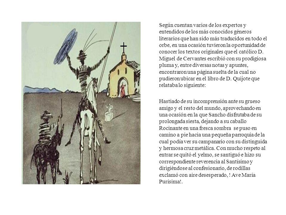 La confesión de D. Quijote.