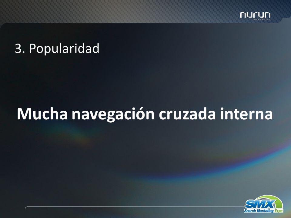 36 Mucha navegación cruzada interna 3. Popularidad
