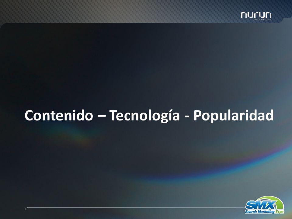 43 Contenido – Tecnología - Popularidad