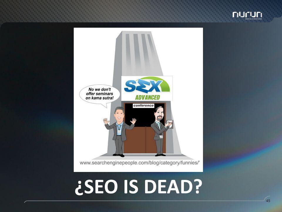 45 ¿SEO IS DEAD?