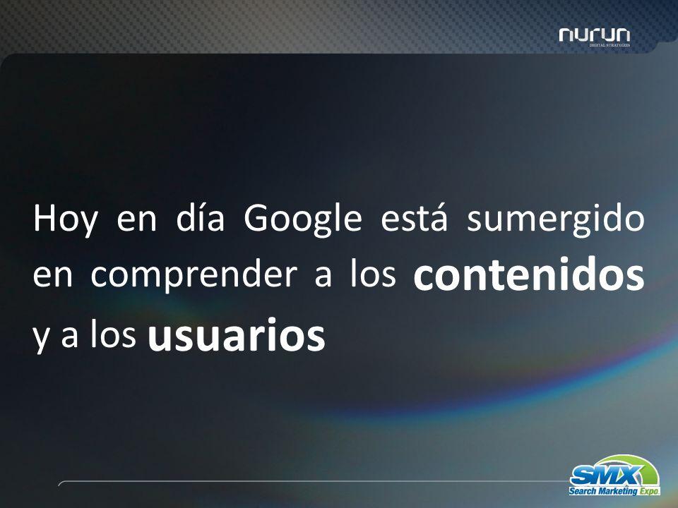 6 Hoy en día Google está sumergido en comprender a los contenidos y a los usuarios
