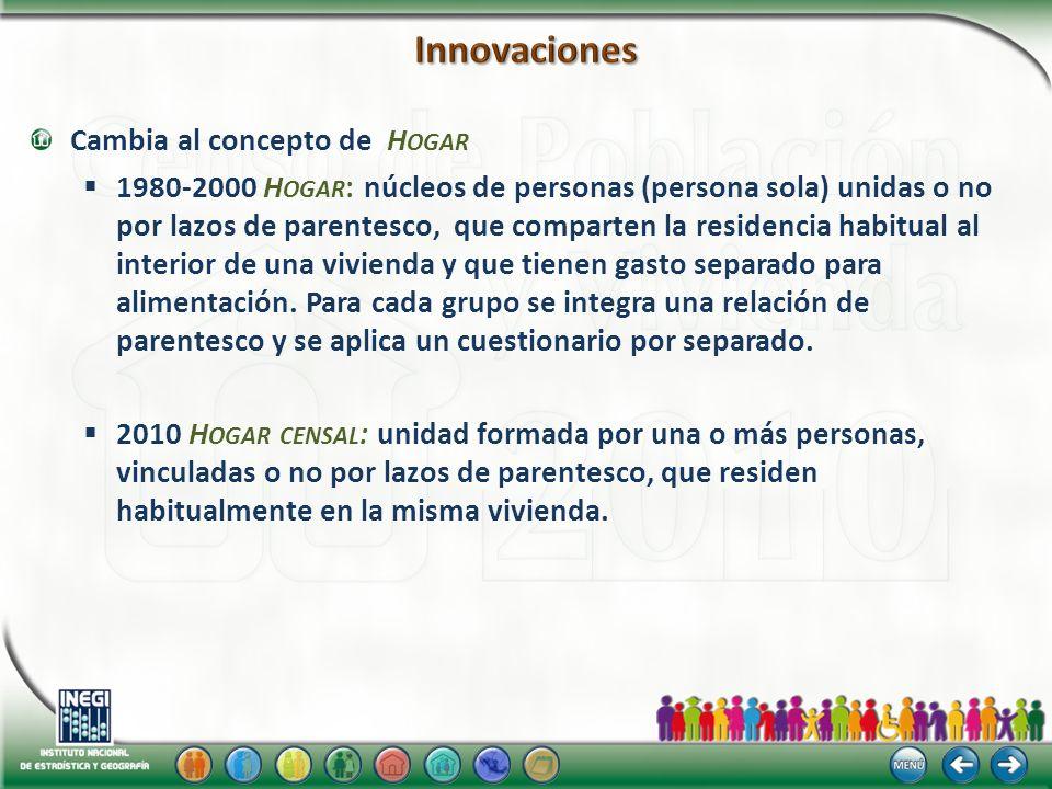 Identificar núcleos familiares al interior de la vivienda, a través de residencia del padre y/o madre y del cónyuge.