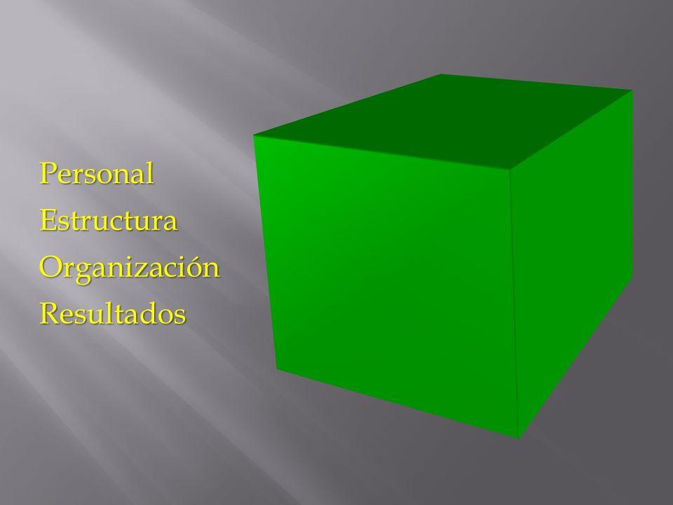 Personal Estructura Organización Resultados