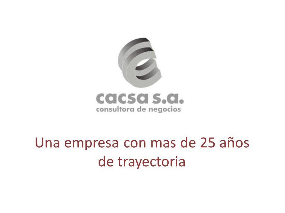 Una empresa con mas de 25 años de trayectoria