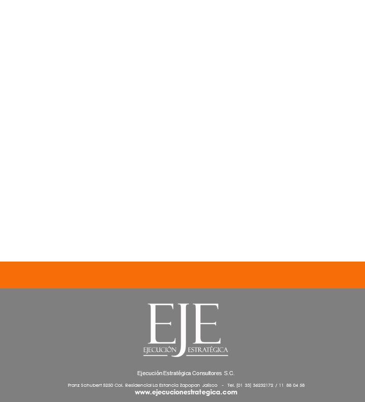 1.6 Ejecución Estratégica Consultores S.C. Franz Schubert 5250 Col. Residencial La Estancia Zapopan Jalisco - Tel. (01 33) 36232172 / 11 88 04 58 www.