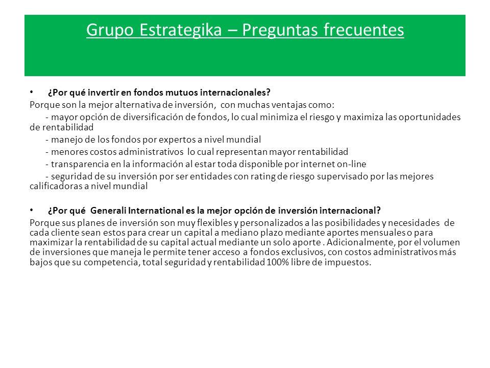 Grupo Estrategika – Preguntas frecuentes ¿Por qué invertir en fondos mutuos internacionales.