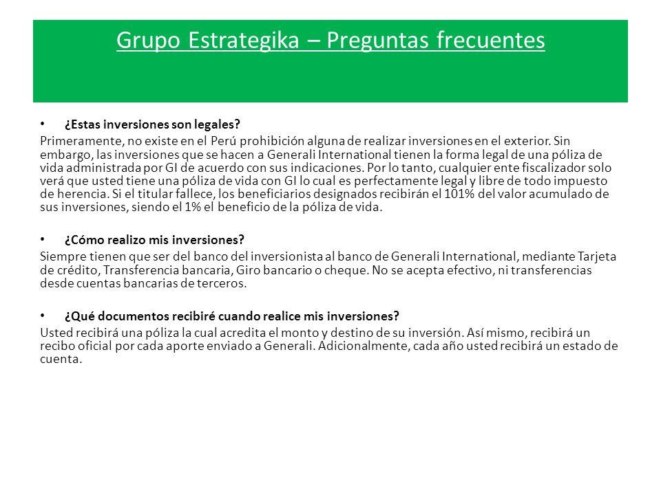 Grupo Estrategika – Preguntas frecuentes ¿Estas inversiones son legales.