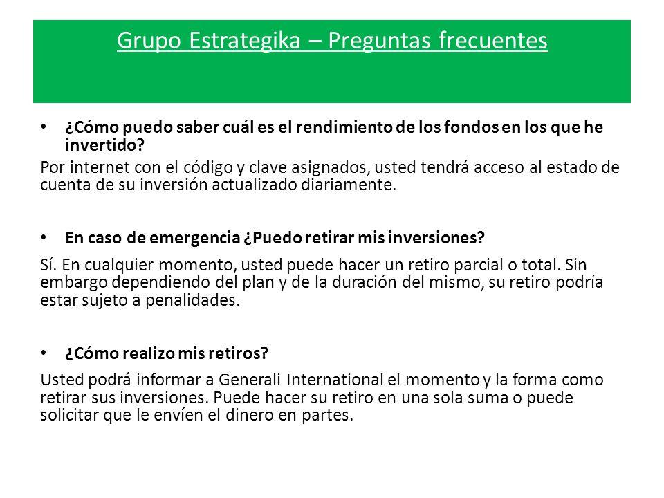 Grupo Estrategika – Preguntas frecuentes ¿Cómo puedo saber cuál es el rendimiento de los fondos en los que he invertido.