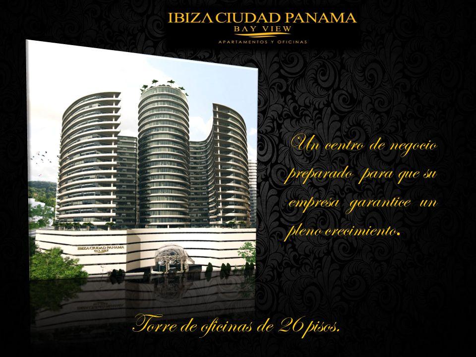 Torre de oficinas de 26 pisos. Un centro de negocio preparado para que su empresa garantice un pleno crecimiento.