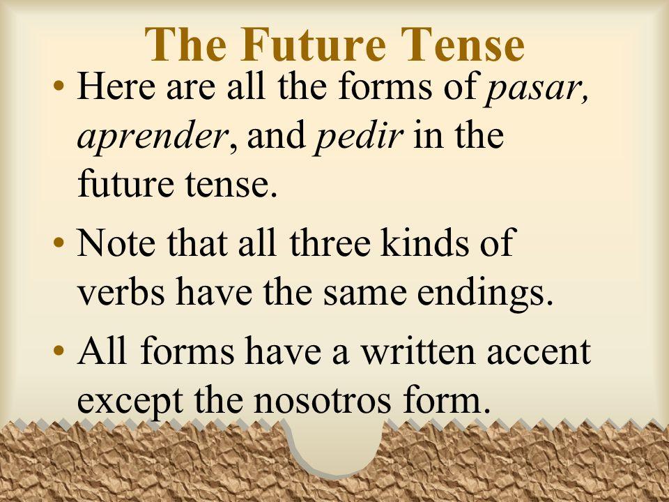 Future: Other Irregular Verbs Pondremos más plantas en nuestra casa.