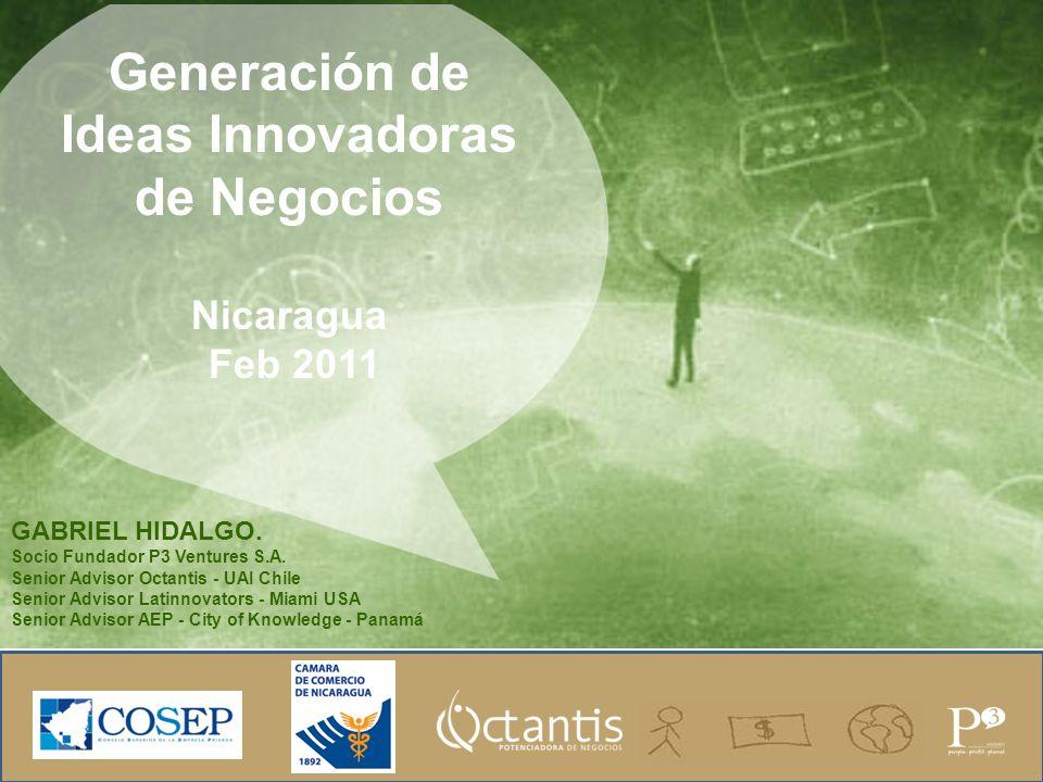 Generación de Ideas Innovadoras de Negocios Nicaragua Feb 2011 GABRIEL HIDALGO.