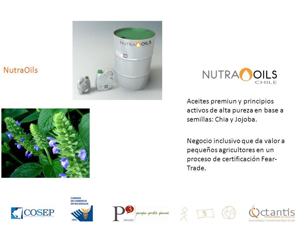 NutraOils Aceites premiun y principios activos de alta pureza en base a semillas: Chia y Jojoba.