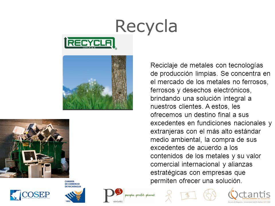Recycla Reciclaje de metales con tecnologías de producción limpias.