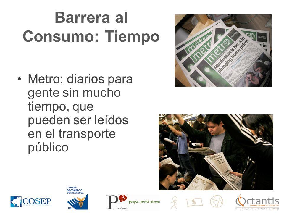 Barrera al Consumo: Tiempo Metro: diarios para gente sin mucho tiempo, que pueden ser leídos en el transporte público