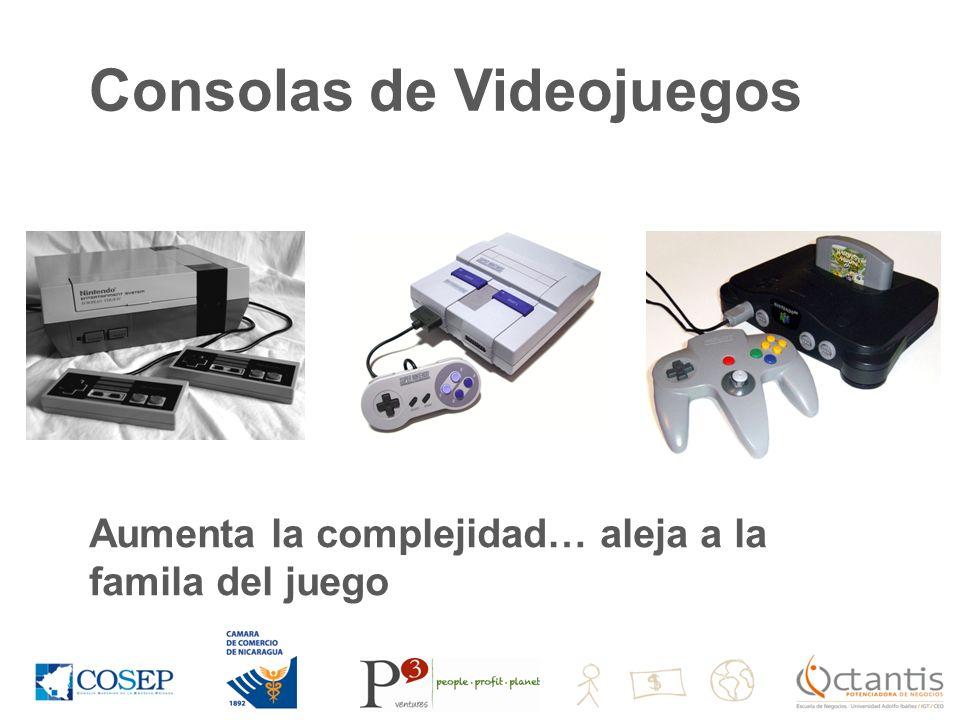Consolas de Videojuegos Aumenta la complejidad… aleja a la famila del juego