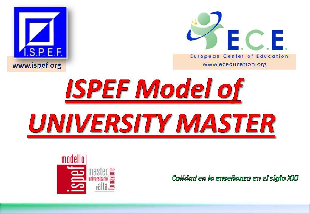12 LA FORMACIÓN POR COMPETENCIAS EN EL MODELO ISPEF DE MÁSTER ©Copyright I.S.P.E.F.