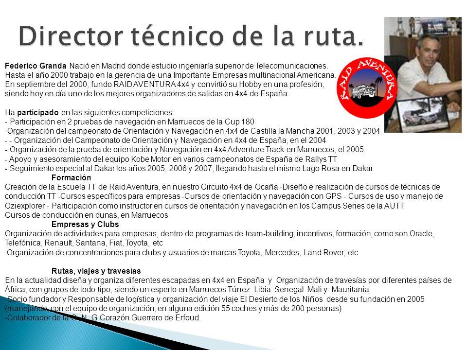 Federico Granda Nació en Madrid donde estudio ingeniaría superior de Telecomunicaciones. Hasta el año 2000 trabajo en la gerencia de una Importante Em