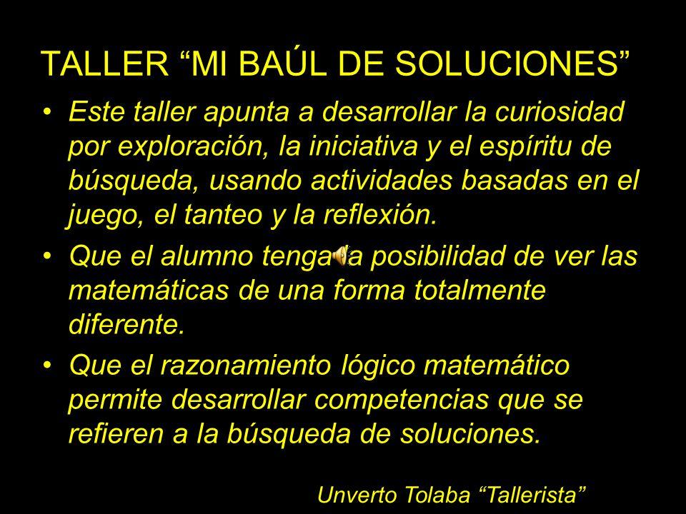 TALLER MI BAÚL DE SOLUCIONES