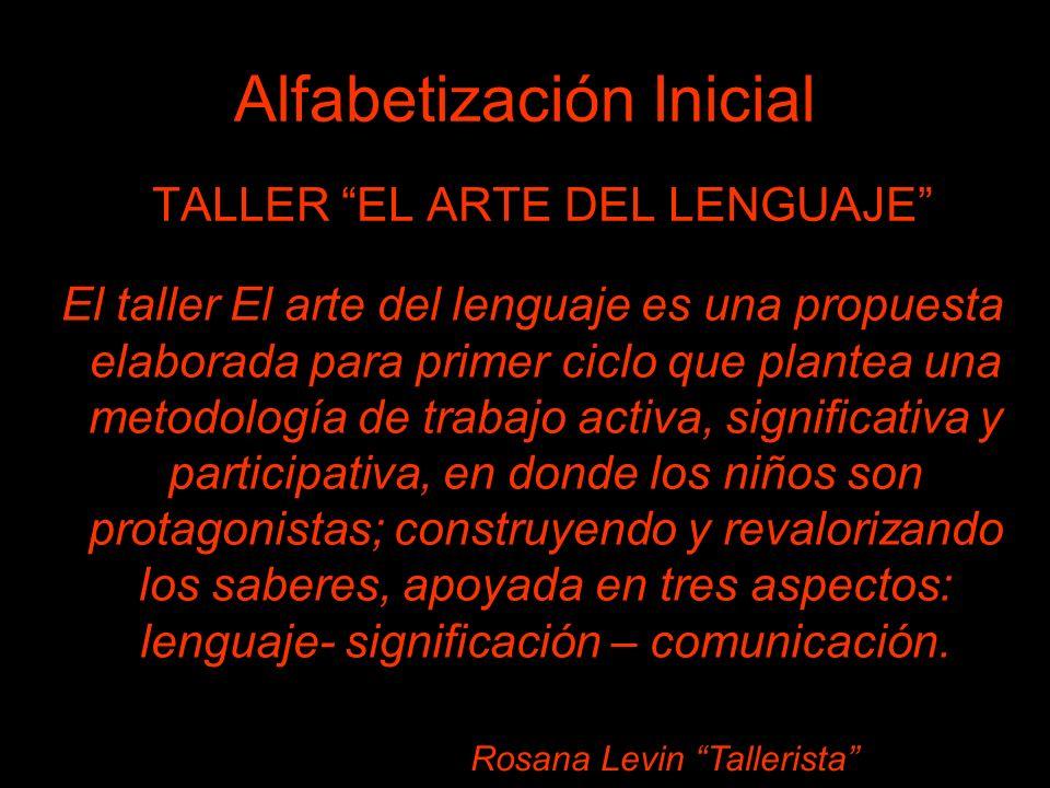 TALLER EL ARTE DEL LENGUAJE