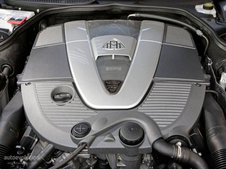 Motor de doce cilindros, 6 litros con dos 6 litros con dosturbocompresores 641 CV.
