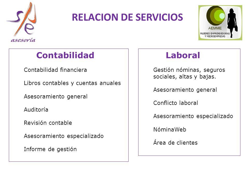 Laboral Gestión nóminas, seguros sociales, altas y bajas.