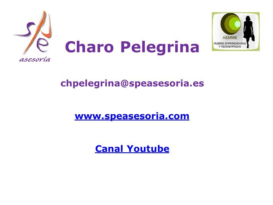 Charo Pelegrina chpelegrina@speasesoria.es www.speasesoria.com Canal Youtube