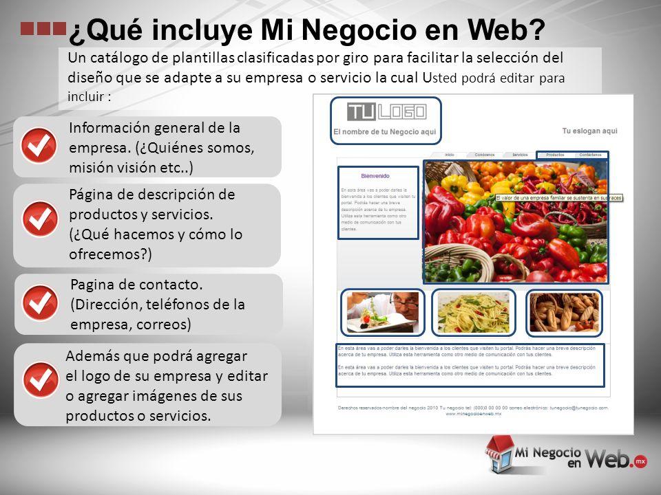 Registro del nombre de su negocio con terminación.com.mx por un año sin costo adicional.