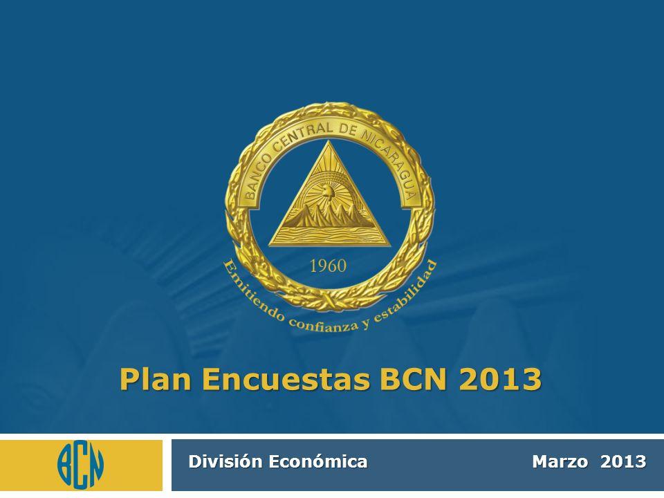 División Económica Marzo 2013 Plan Encuestas BCN 2013