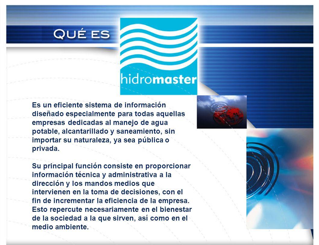 Es un eficiente sistema de información diseñado especialmente para todas aquellas empresas dedicadas al manejo de agua potable, alcantarillado y saneamiento, sin importar su naturaleza, ya sea pública o privada.