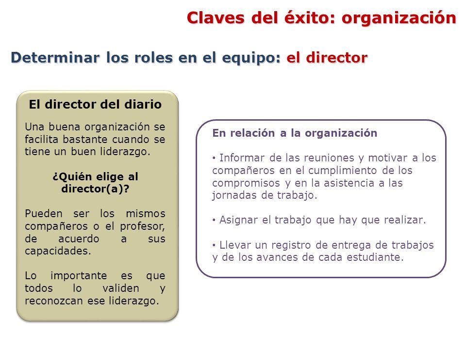 En relación a la organización Informar de las reuniones y motivar a los compañeros en el cumplimiento de los compromisos y en la asistencia a las jorn