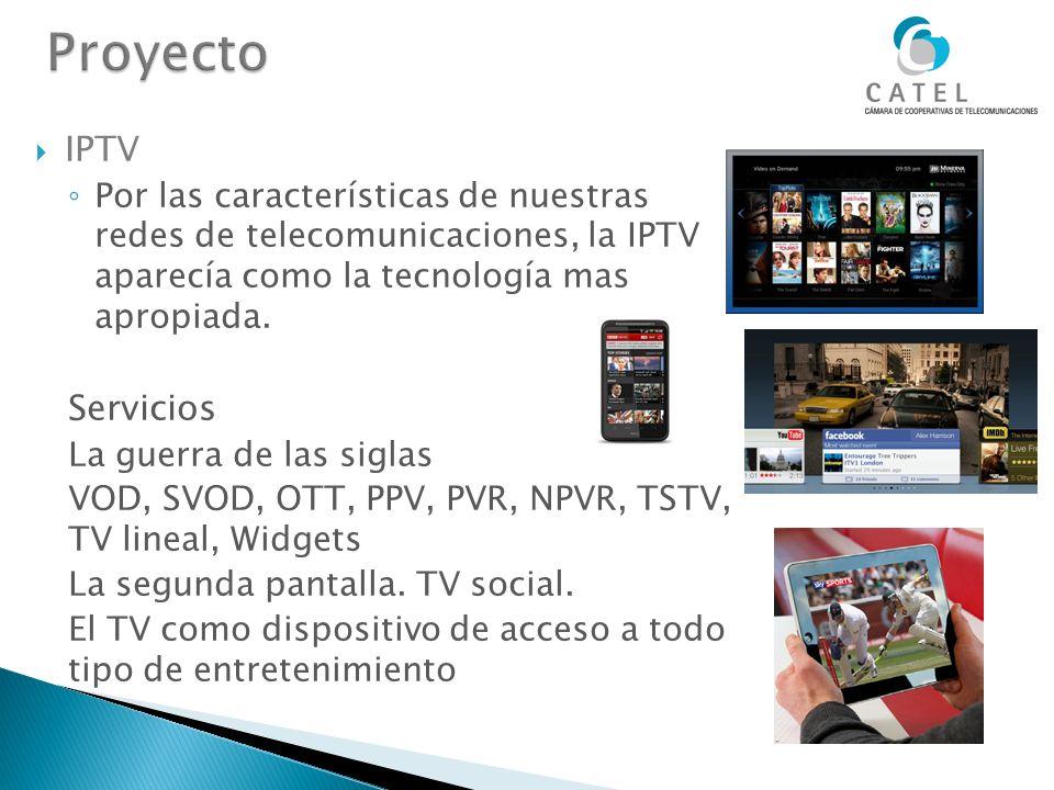 IPTV Por las características de nuestras redes de telecomunicaciones, la IPTV aparecía como la tecnología mas apropiada. Servicios La guerra de las si
