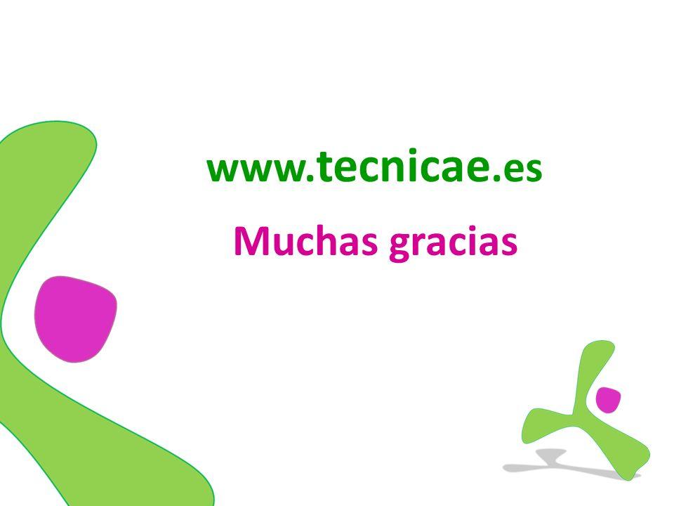www. tecnicae.es Muchas gracias