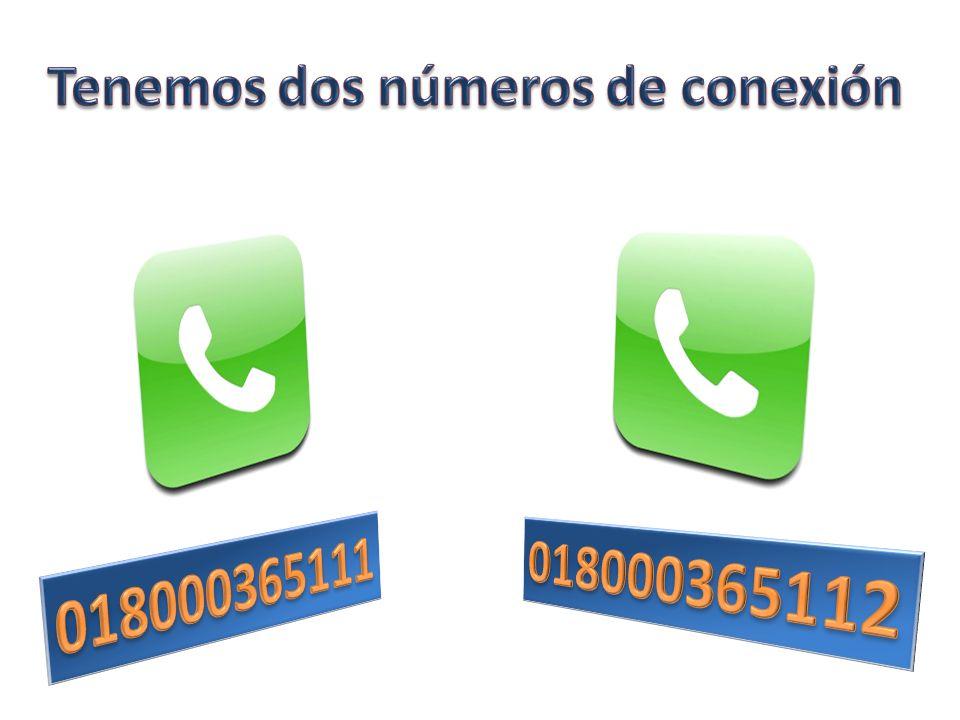 Tenemos dos números de conexión Manejo de la información en línea y muy completa. Con un mismo saldo vende recargas a los tres operadores. Soporte téc