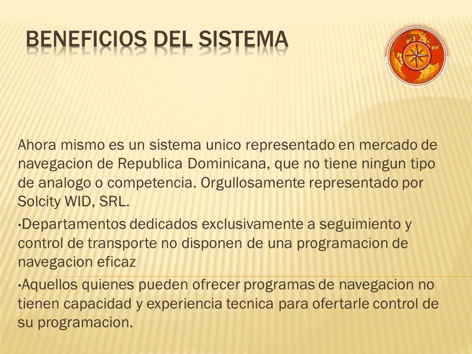 Ahora mismo es un sistema unico representado en mercado de navegacion de Republica Dominicana, que no tiene ningun tipo de analogo o competencia.