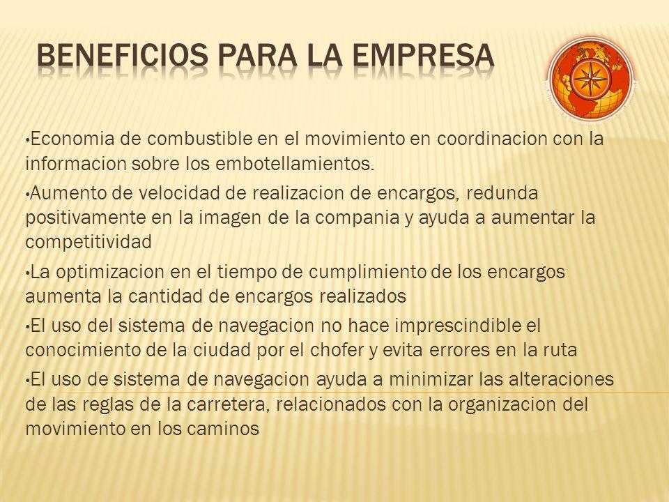 Economia de combustible en el movimiento en coordinacion con la informacion sobre los embotellamientos.