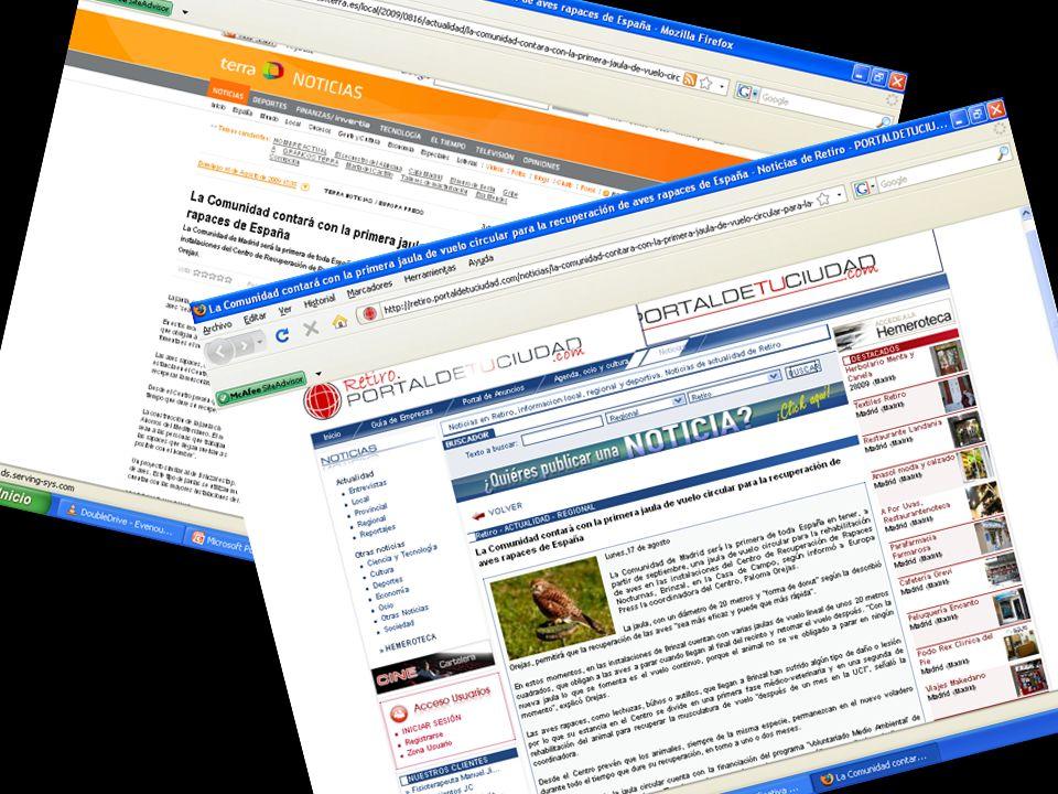 El proyecto ¡Vuela de nuevo! Actividades para exportar la idea a otros proyectos 1.Prensa: medios digitales