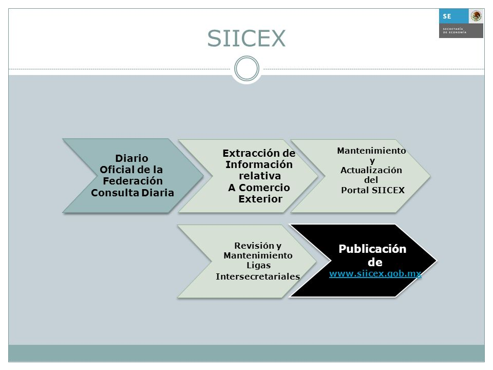 SIICEX Extracción de Información relativa A Comercio Exterior Extracción de Información relativa A Comercio Exterior Mantenimiento y Actualización del