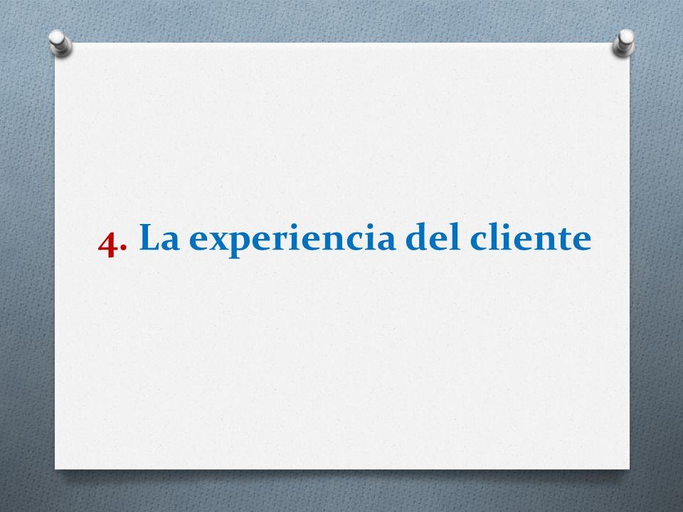 4. La experiencia del cliente