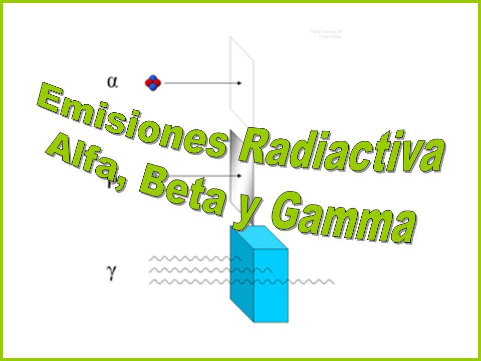 La radiación Alfa está formada por partículas que constan de dos protones y dos neutrones.