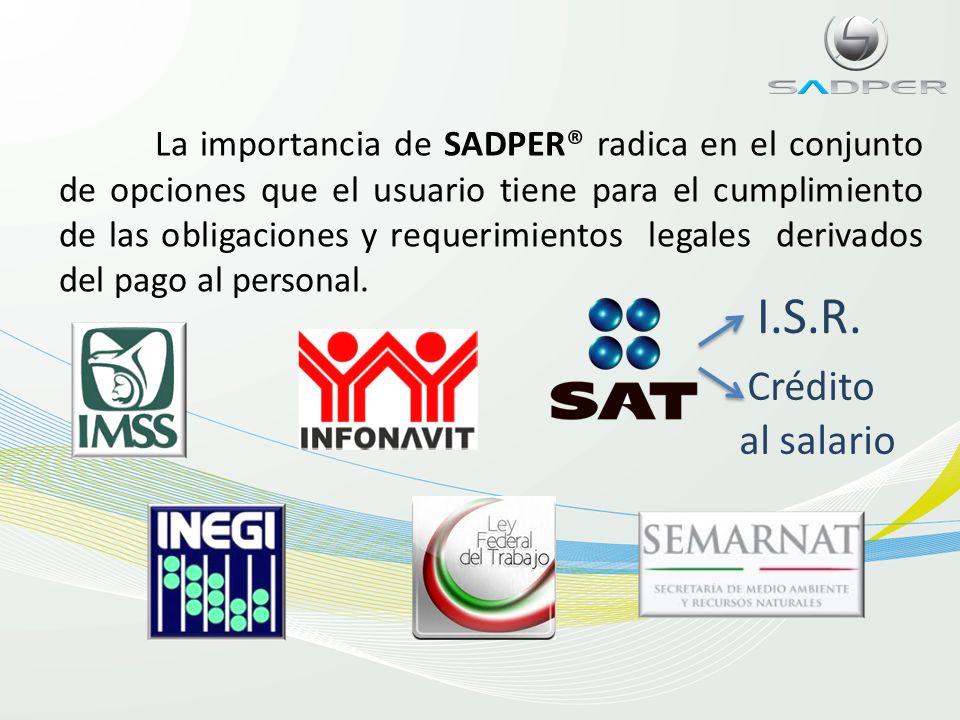 Adquiere SADPER® en plan de renta mensual por solo $10.00 (diez pesos 00/100 MN) + IVA por colaborador calculado en el mes en nómina quincenal, si la nómina es semanal el costo es de $13.00 (trece pesos 00/100 MN) + IVA por colaborador calculado.