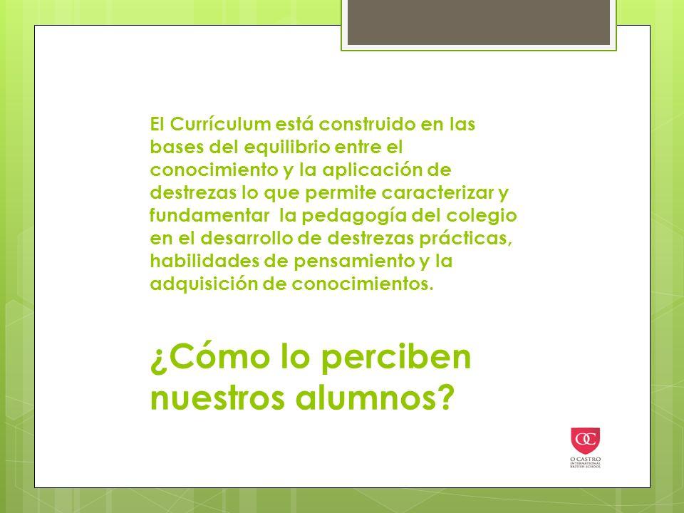 El Currículum está construido en las bases del equilibrio entre el conocimiento y la aplicación de destrezas lo que permite caracterizar y fundamentar la pedagogía del colegio en el desarrollo de destrezas prácticas, habilidades de pensamiento y la adquisición de conocimientos.