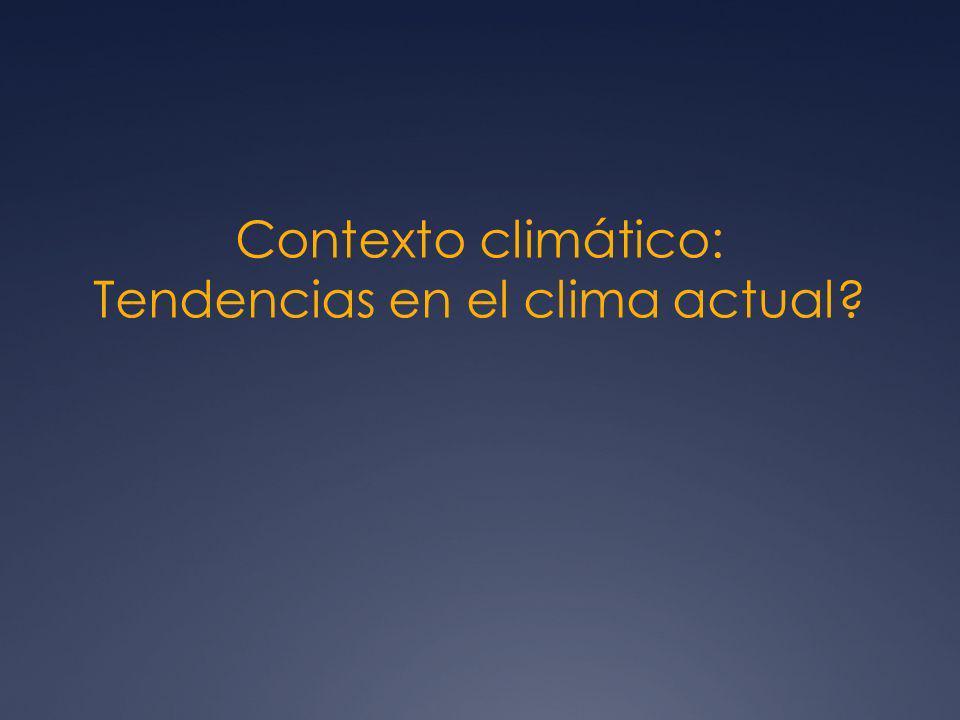 Contexto climático: Tendencias en el clima actual?