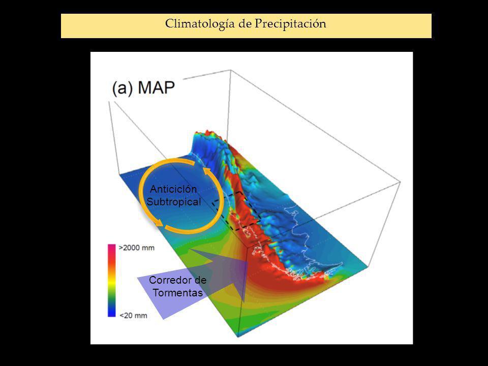 Corredor de Tormentas Anticiclón Subtropical Climatología de Precipitación