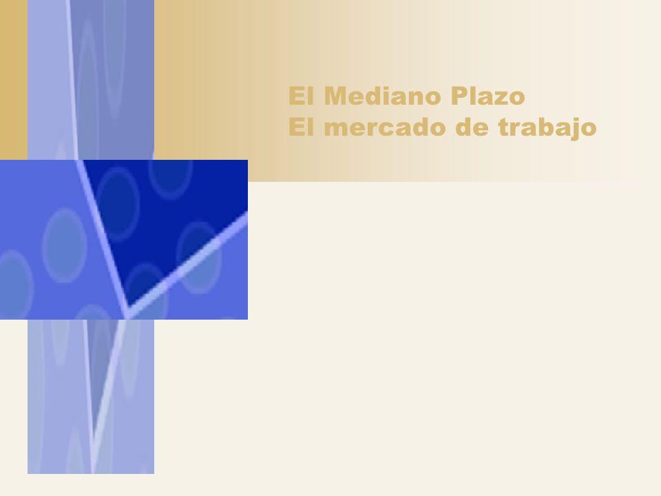 El Mediano Plazo El mercado de trabajo